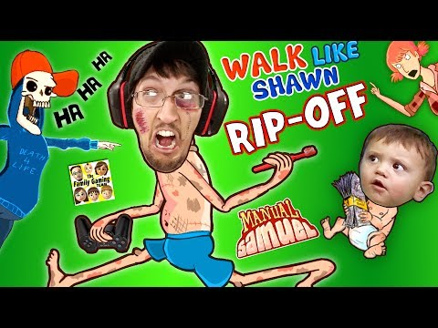 WALK LIKE SHAWN Video Game Rip-Off?! FGTEEV HILARIOUS Funny Fails w/ Manual Samuel the DOOFY ZOMBIE (видео)
