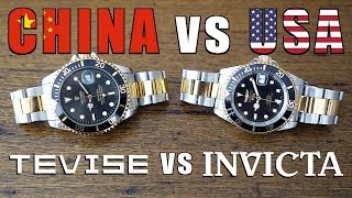 Budget Automatic Watch Duel! Tevise T801A vs Invicta Pro Diver 8927OB - Perth WAtch #122