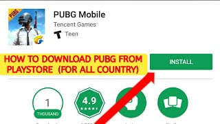 Video How to download PUBG game from Playstore | For all Country MP3, 3GP, MP4, WEBM, AVI, FLV April 2018