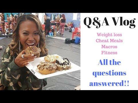 Q&A vlog  Weight loss macros and cheat meals
