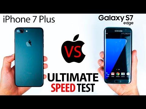 iPhone 7 Plus VS S7 Edge - The ULTIMATE SPEED Test! (видео)
