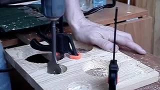 09. Skil Torro - сверление с засверливанием перьевое сверло 40мм