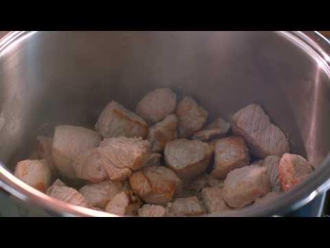 """Кулинарная программа """"Рецепт+"""" 15 выпуск. (Свинина в горчичном соусе)"""