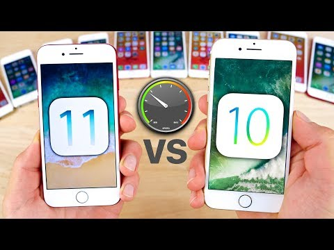 , title : 'iOS 11 vs 10.3.3 Speed Test on ALL iPhones!'