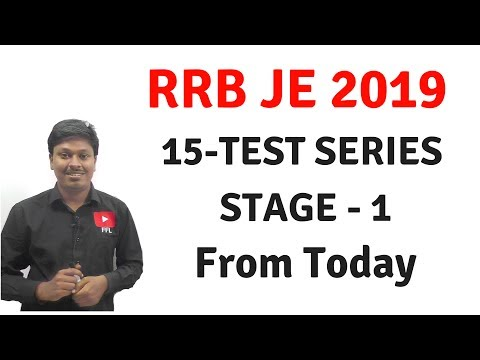 Rrb Je 2019 _ 15 Practice Sets ( Stage - 1)