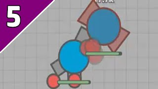 TWIN TANK, FLANK GUARD AND TRI-ANGLE?! STEAMROLLING?!  Diep.io #5 Check the game out here!: http://diep.io/ ...
