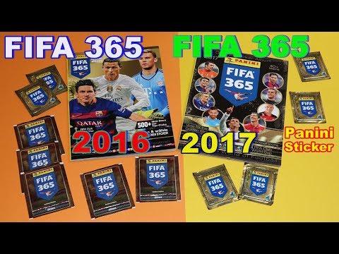 Panini Sticker Album FIFA 365 Soccer 40 stickers 2016 + 2017