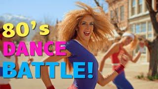 80's Aerobic Dance Battle: Guys vs Girls