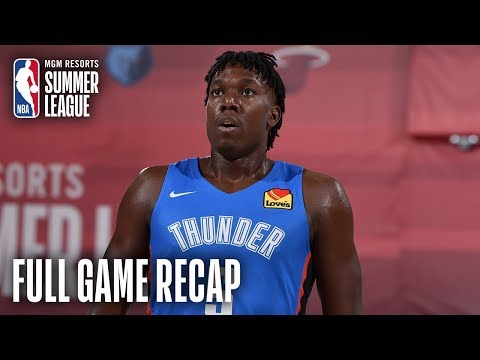 Video: THUNDER vs 76ERS   Thunder Hold On For Victory In OT   MGM Resorts NBA Summer League
