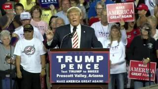 Prescott Valley (AZ) United States  city photos gallery : Full Speech: Donald Trump Holds HUGE Rally in Prescott Valley, AZ 10/4/16 *RSB Cameras