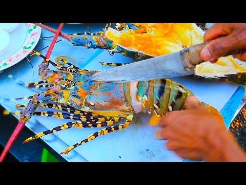 Thai Street Food - Giant RAINBOW LOBSTER + Monster Seafood in Hua Hin, Thailand