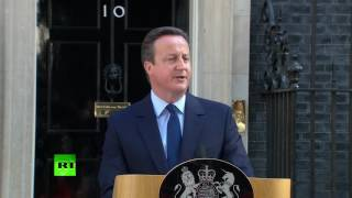 David Cameron resigns as British PM in wake of Brexit vote