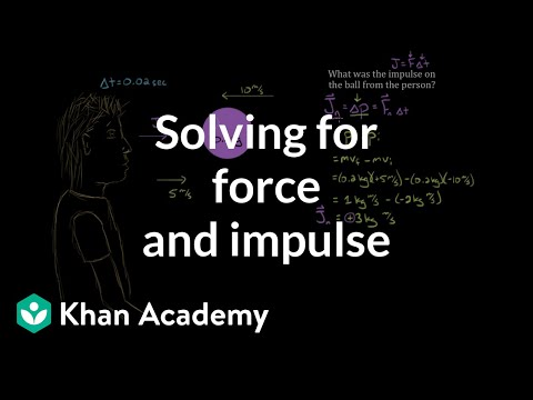 Impulse And Momentum Dodgeball Example Video Khan Academy
