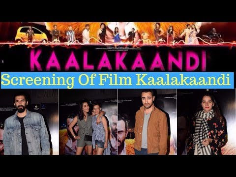 Aditya Roy Kapur,Shruti Haasan & Imran Khan At Special Screening Of Film Kaalakaandi