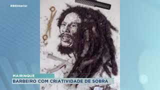Mairinque: barbeiro faz obras de arte com sobras de cabelos