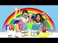 Rainbow Glitter Slime Challenge with Romaria
