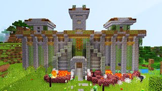 AMAZING REDSTONE CASTLE IN MCPE (Minecraft Defense Base)