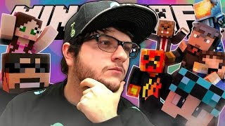 Minecraft GUESS THAT YOUTUBER! | Youtuber Trivia Game