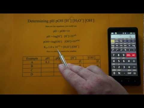 Determining pH pOH [H+] [OH-] [H3O+] (видео)