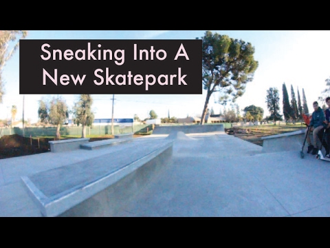Sneaking Into A New SkatePark!