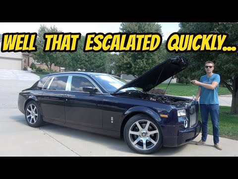 Was Buying the Cheapest Rolls-Royce Phantom in the USA Worth It? Totaling Up Repairs..._Autós videók