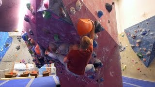 Peter Is Back! Smiling and Climbing A V7 This Bouldering Session! by Eric Karlsson Bouldering