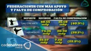Federaciones deportivas mexicanas no comprueban el destino de su presupuesto: Conade
