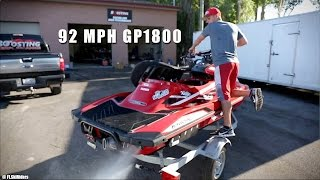 9. 92 MPH Yamaha GP1800 by Boosting Performance