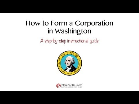 How to Incorporate in Washington