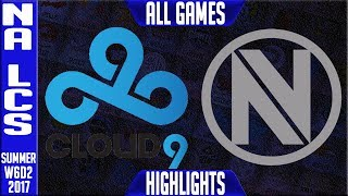 C9 vs NV Highlights ALL GAMES - NA LCS week 6 Summer 2017 - Cloud9 vs Team EnvyNALCS teams: Dignitas, Fly Quest, TSM, EnVyUs, Phoenix 1, CLG, Liquid, Echo Fox, Immortals, Cloud9NA LCS Spring 2017 playlist: https://www.youtube.com/watch?v=6Nat_jBUPyE&list=PLJwuLHutaYuLhpm8EMj2AyWxhS4xEFKn4☻All games spoiler free with stats and infographs at Stage: https://stage.gg/► All other previous tournaments: http://bit.ly/1WBqwLzKazaLoLLCShighlights -  bringing you fast highlights of LCS, LCK, LPL and LMS League of Legends Esports Matches every day♡♡♡♡♡♡♡♡♡♡♡♡♡♡♡♡♡♡♡♡♡♡♡♡♡♡♡♡♡♡✉ Social media below - Follow for regular updatesⓕⓑ  KazaGamez  ►http://on.fb.me/1N5j0EHⓖ+                            ►http://bit.ly/1Bpjrbaⓣⓦⓘⓣⓣⓔⓡ      ►Twitter      -  http://bit.ly/1BkVAtGⓣⓦⓘⓣⓒⓗ          ►Livestream: http://bit.ly/1BpjzYdⓓⓞⓝⓐⓣⓔ          ►Paypal: http://bit.ly/1cBU6JnSubscribe: http://bit.ly/1oZa2wJ