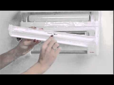 Aluminum Foil, Paper Roll Dispenser + Storage Rack (4 in 1)