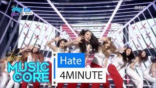 [HOT] 4MINUTE - hate, 포미닛 - 싫어, Show Music core 20160130, clip giai tri, giai tri tong hop