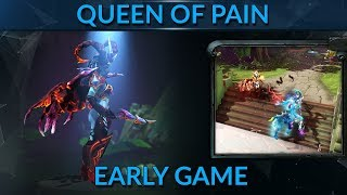 Video How to DOMINATE early game with Queen of pain (QOP) in DOTA 2 MP3, 3GP, MP4, WEBM, AVI, FLV Juni 2018