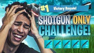 SHOTGUN ONLY CHALLENGE! Fortnite Battle Royale