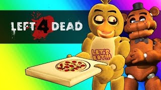Five Nights At Freddy's Vs. Minecraft! ( Left 4 Dead 2 Funny Moments and Mods )