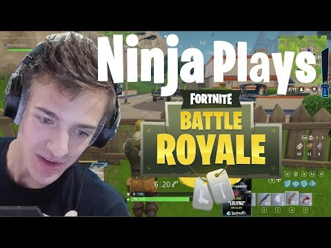 Ninja First Fortnite Game On Stream (Fortnite Gameplay)