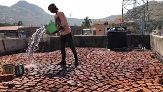 fiber mesh waterproofing with brickbat coba