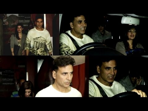 Akshay Kumar & Twinkle Khanna At Watch Movie Commando 2 Spotted At Pvr