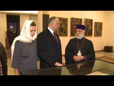 Președintele Moldovei Igor Dodon a vizitat principalul locaş sfînt al Bisericii Apostolice Armene