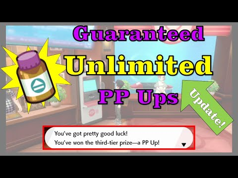 (Updated) Guaranteed Unlimited PP Ups in Pokemon Sword and Shield