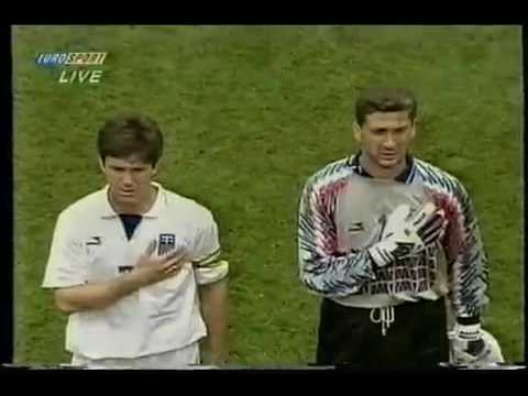 En el Mundial 1994 jugando contra Argentina