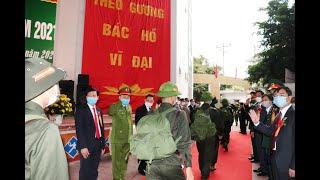 Lễ giao nhận quân TP Uông Bí năm 2021: Trang trọng, ngắn gọn và an toàn