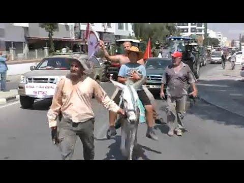 Κατεχόμενα: Επεισόδια σε συλλαλητήριο αγροτών έξω από το «υπουργείο» Γεωργίας…