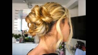 Tuto Coiffure #26 : Chignon Romantique, Chic et facile / Easy Hairstyle, Bun, Updo - YouTube