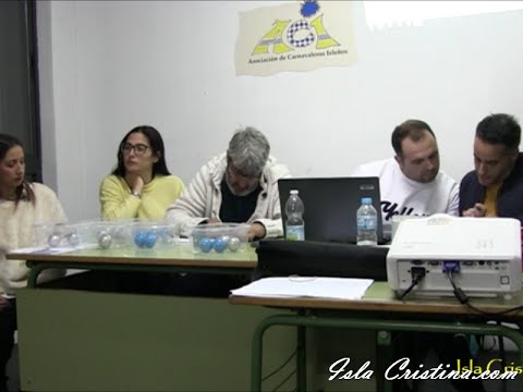 Sorteo Preliminares Concurso Carnaval de Isla Cristina 2020