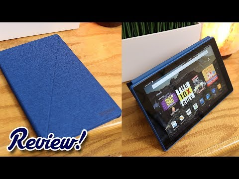 Amazon Fire HD 10 with Alexa - Official Flip Cover Case Review!