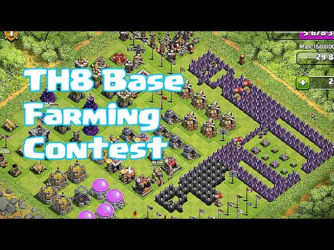 4th - IMPORTANT!!! because of the high volume of submissions. i will not longer take any more submissions.) Here is our next competition For a town hall 8 farming base! this contest ends November...