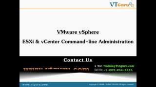 VTGURU VMware VSphere ESX&ESXi Command Line Administration Training ESX Networking Commands