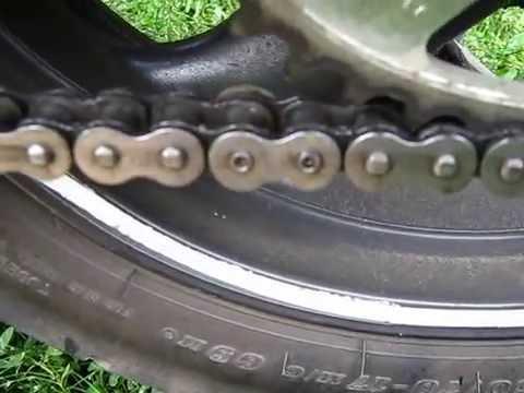 Как заменить цепь на мотоцикле