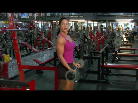 bicepcurls - Getting big biceps means doing curls and lifting dumbbell weights. Learn how to do biceps curls to workout the muscles in this weightlifting video.